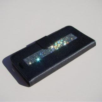 Samsung Galaxy S6 Edge Bl. Wallet, Black Chrystals