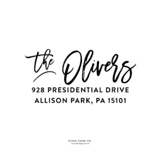 "Self Inking Return Address Stamp ""The Olivers"""