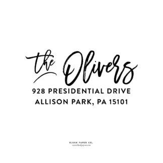 "Self Inking Return Address Stamp ""The Olivers"""