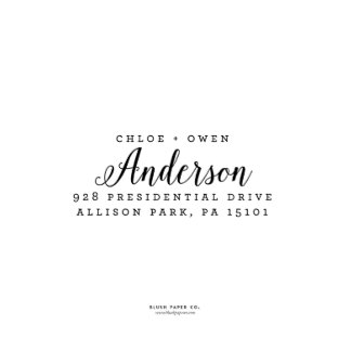 "Self Inking Return Address Stamp ""Anderson"""