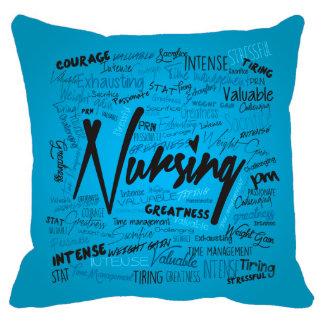 18x18 Nurses Hand Made Blue Pillow