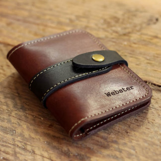 Personalized Fine Leather Snap Closure Wallet