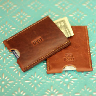 Personalized Fine Leather Card Holder Wallet
