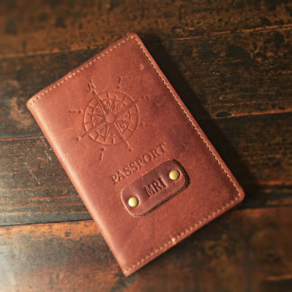 Personalized Fine Leather Passport Cover