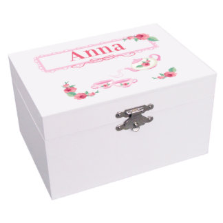 Custom Tea Party Ballerina Musical Jewelry Box