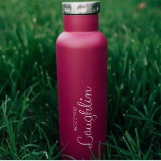 Burgundy Insulated Bridesmaid Wine Canteen