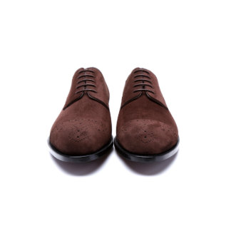 Chocolate Brown Handmade Goodyear Welted Derby