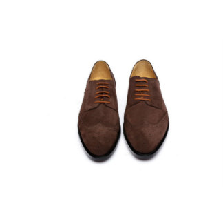 Chocolate Brown Handcrafted Goodyear Welted Derby