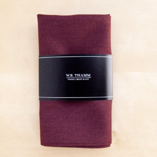 Cliff Solid Claret Red Pocket Square