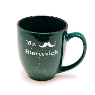 Gloss Dark Green Santa Fe Mr. Bistro Mug