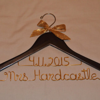 Two-Line Personalized Hanger with Bow Accent