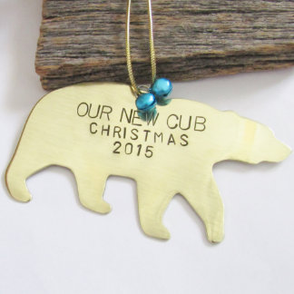 "Birth Announcement ""Our New Cub"" New Baby Ornament"