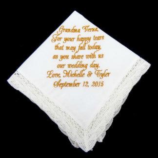 Grandmother of the Bride and Groom Handkerchief