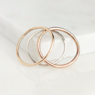 Gold-Filled Band Stacking Rings