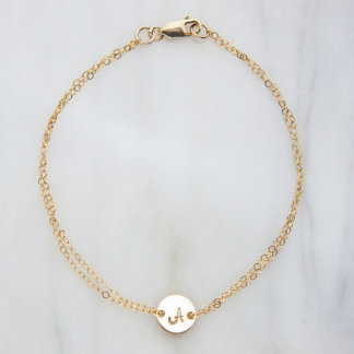 Personalized Gold-Filled Initial Bracelet