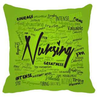 18x18 Nurses Hand Made Green Pillow