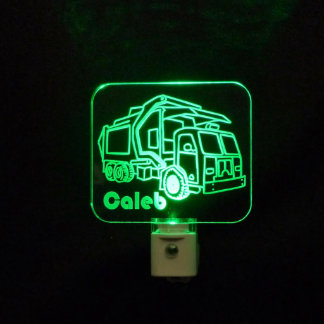Personalized Kids Garbage Truck LED Night Light
