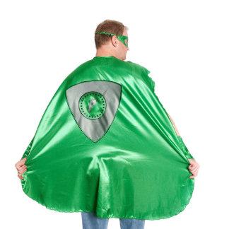 Adult Green Superhero Costume with Black Shield