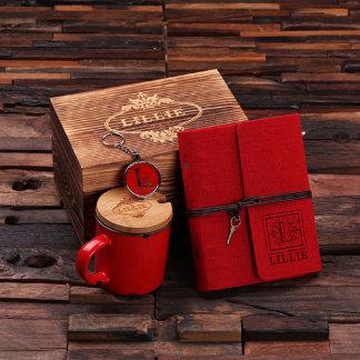 Caja personalizada, diario, llavero, sistema de la
