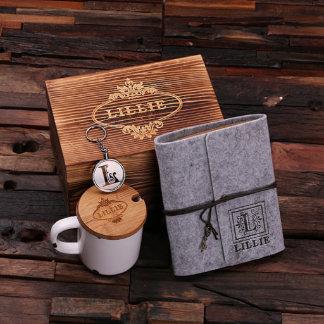 Box Gift Set for Her – Journal, Keychain, Mug