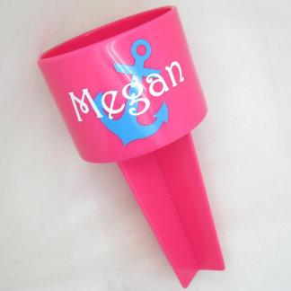 Pink & Blue Nautical Beach Spiker Cup Holder