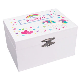 Unicorn Musical Jewelry Box w/Ballerina and Mirror