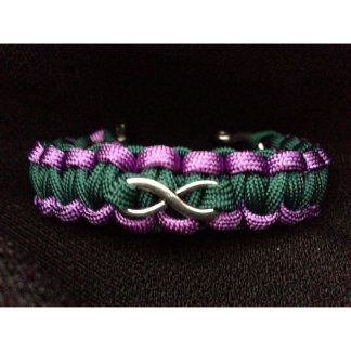 Customizable Paracord Bracelet with Infinity Charm
