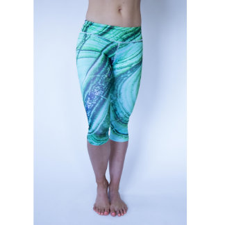 Custom Crystal Capri Yoga Leggings - Abundant