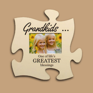 Engraved 12x12 Puzzle Piece Photo Frame