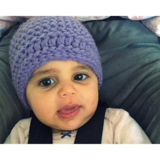 Handmade Lavender Purple Acrylic Yarn Baby Hat