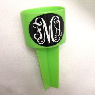 Green Monogram Beach Spiker Cup Holder