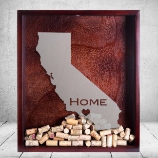 """Personalized Shadow Box """"California"""" State & City"""
