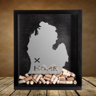 "Personalized Shadow Box ""Michigan"" w/State & City"