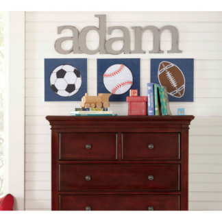 Kids Bedroom Hand Painted Personalized Wall Art
