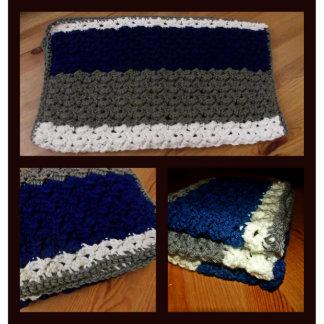 18x18 Handmade Striped Baby Security Blanket