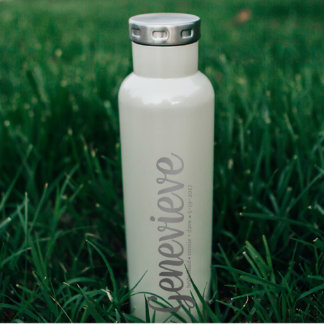 Pearl White Personalized Bridesmaid Bottle