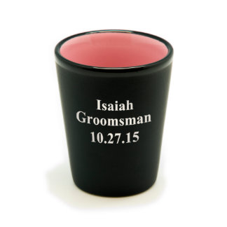 Personalized Matte Black/Color Shot Glass #14