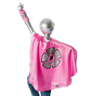 Youth Pink Superhero Costume with Flower