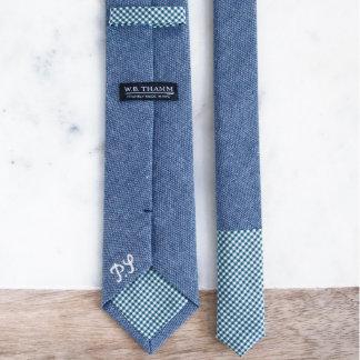 Ray - Chambray Blue Men's Skinny Necktie