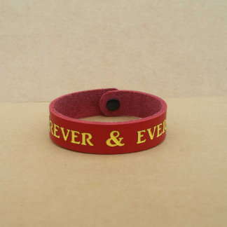 Personalized Gift - Custom Made Leather Bracelet