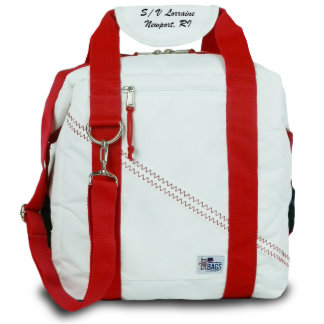 Newport Insulated Cooler Bag with Red Straps