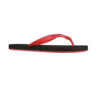 Red Personalized Sand Imprint Men's Flip Flops
