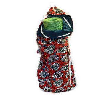 Reversible Go Anywhere Yoga Bag w/Skulls Motif
