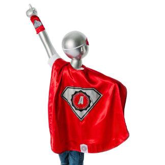 Youth Red Superhero Costume with Black Diamond