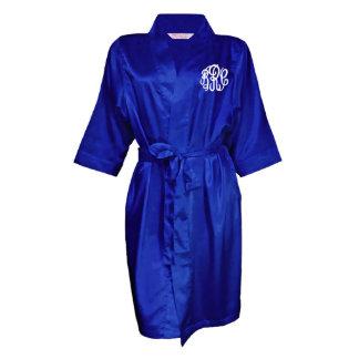 Royal Blue, Monogram Bridal Party Robe