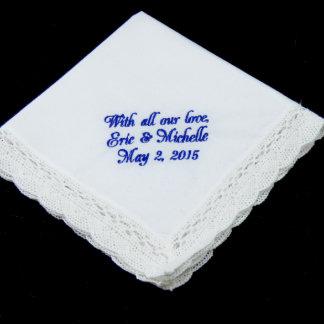 Fan Lace Mother of the Bride Handkerchief