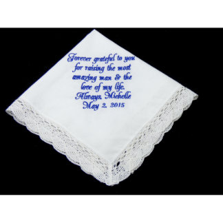 Mother of the Groom Embroidered Gift Handkerchief