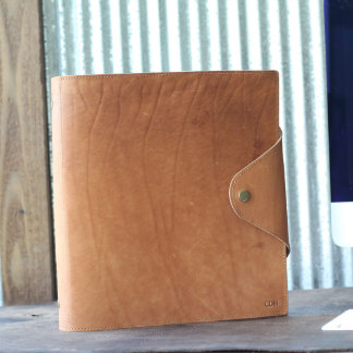 The Langley 3-Ring Leather Binder