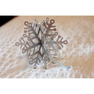 3D Metal Snowflake Ornament w/Swarovski Crystals