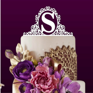 Personalized Initial Monogram Cake Topper